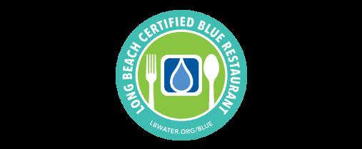 logo Long Beach certified blue restaurant